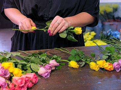 Blumen anschneiden