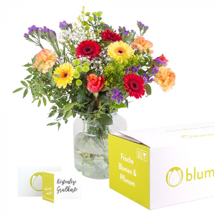 Lieferung Blumen zur Geburt - Überraschungsstrauß