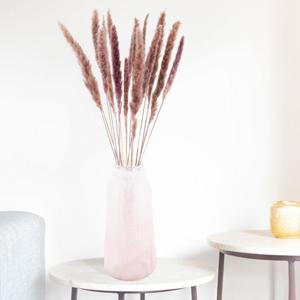 Glasvasen dekorieren mit Pampasgras