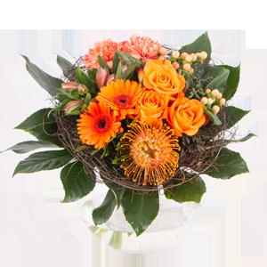Typische Oster-Blumensträuße