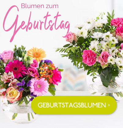Blumen zum Geburtstag verschiken