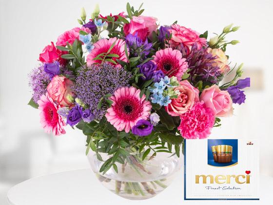 Blumenversand mit Geschenk