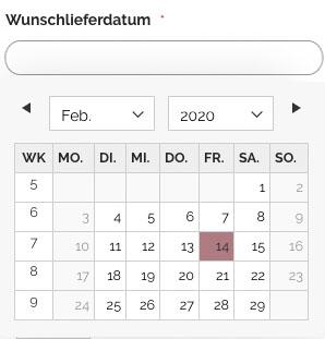 Wunschlieferdatum